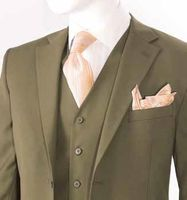 Mens Modern Fit Wool Feel Brown Suit 3 Piece Side Vents T62W