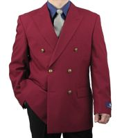 Vittorio Mens Burgundy Double Breasted Classic Blazer Z76B