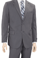 Vittorio Mens Gray Suit Flat Front Pants A72TF