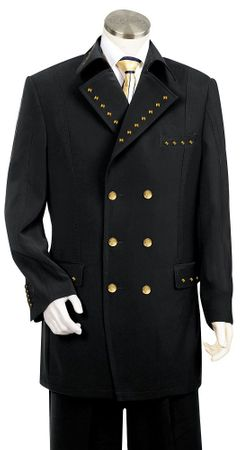 Canto Metal Double Breasted Suit 8 Button 8375 52 Reg Final Sale - click to enlarge