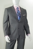 Vittorio Mens Modern Fit 2 Piece Suit Heather Gray A62W