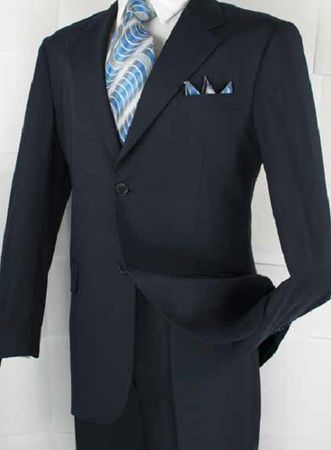 Vittorio Mens Navy Suit Flat Front Pants A72TF
