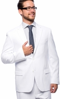 Vittorio Mens White Suit Flat Front Pants A72TF