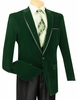 Vinci Mens Emerald Green Velvet Blazers 1 Button B-16