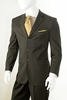 Vittorio St. Angelo Mens 3 Button Pinstripe Suit Brown A63ETS