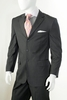 Vittorio St. Angelo Mens 3 Button Pinstripe Suit Gray A63ETS