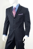 Vittorio St. Angelo Mens 3 Button Pinstripe Suit Navy A63ETS