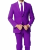 Mens Purple Color Suit 2 Button Jacket Vittorio St. Angelo A72TE