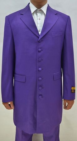 Mens Purple Zoot Suit Long Jacket 3 Piece Alberto Nardoni Zoot-100 - click to enlarge