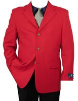 Vittorio St. Angelo Mens Classic 3 Button Blazer Red Z73TA
