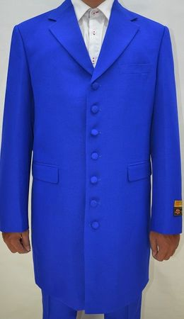 Zoot Suits Forties Style Royal Blue Three Piece by Alberto Zoot-100 - click to enlarge