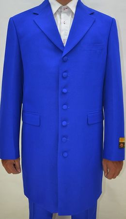 Zoot Suits Forties Style Royal Blue Three Piece by Alberto Zoot-100