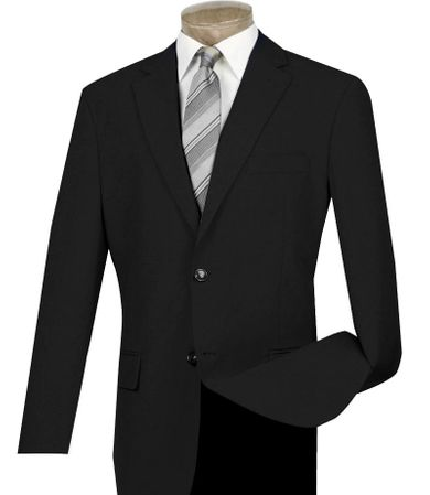 Mens Black Blazer Painted Buttons Z-2PP