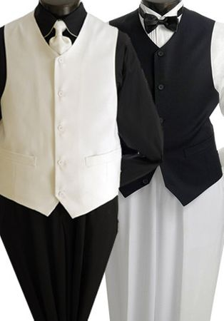 Mens Catering Waiter Uniform Vest V-PP