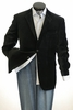 Mens Black Velvet Blazer by Tony Blake 2 Button SR4