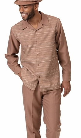 Montique Walking Suit Beige Modern Long Sleeve 2014
