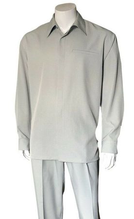 Walking Suit for Men Silver Teju Print Long Sleeve Fortino M2763