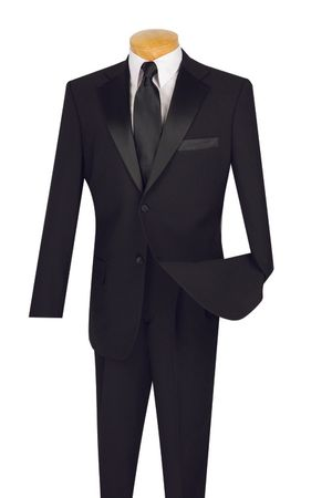 Wedding Suits for Men Black 2 Button Tux T-2PP