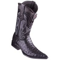 Western Boots for Men Black Crocodile Tail Pointed Toe Los Altos 9530105