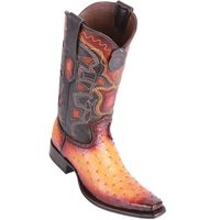 Western Boots for Men Buttercup Ostrich European Toe Los Altos 760301
