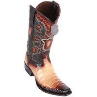Western Boots for Men Tan Crocodile European Square Toe Los Altos 768215