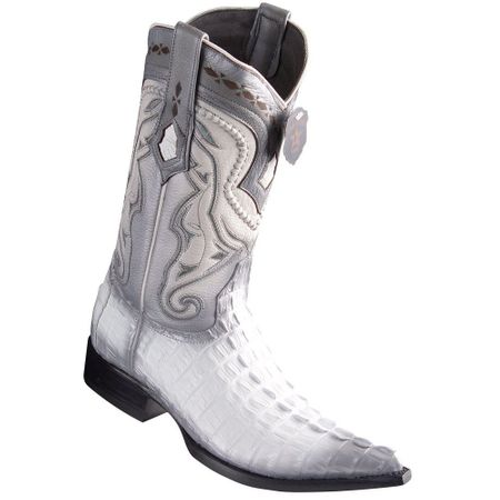 Western Boots for Men White Crocodile Tail Pointed Toe Los Altos 9530128