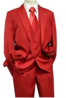 Falcone 3 Piece Fashion Suit Vett Vested Red 3869-005 OS