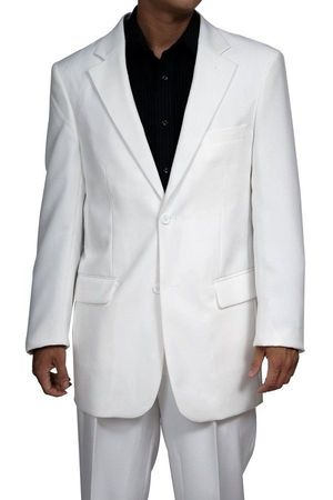 White Suit Mens 2 Button Pleated Pants Lucci N2PP - click to enlarge