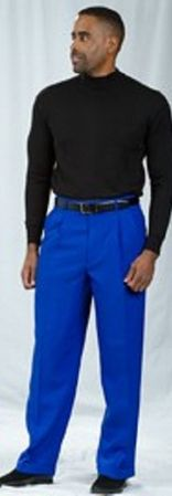 Pacelli Royal Blue Pleated Baggy Fit Dress Pants 810011