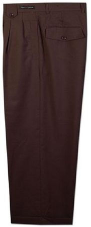 Fratello Brown Box Pleated Wide Leg Dress Pants DPR107