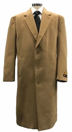 Mens Winter Top Coat Camel Wool Full Length Alberto Coat03 - click to enlarge