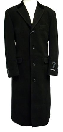 Xxiotti Mens Black Chesterfield Cashmere Blend Overcoat 77000  - click to enlarge