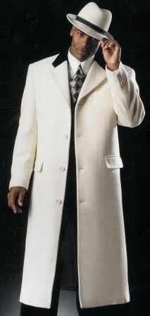 Chesterfield Coat Men's Winter White Full Length Vance 4150-107 IS - click to enlarge