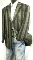 Zacchi Mens Black and Metallic Grey Blazer 71700 Size 40L Final Sale