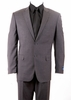 ZeGarie Italian Cut Dark Grey 2 Button Wool Suit MW131