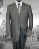 ZeGarie Men's 2 Button Medium Grey Italian Cut Suit MW121