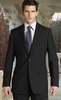 ZeGarie Black Italian Design 2 Button Wool Suit MW122
