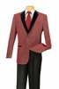 Vinci Mens Wine Texture Fabric Slim Fit Blazers BS-07
