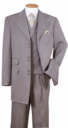 Zoot Suit for Men Light Brown Fine Stripe 6 Button 3 Piece Milano 2917V