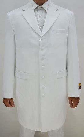 Zoot Suits for Men White 3 Piece by Alberto Zoot-100
