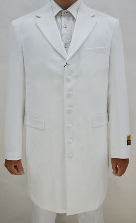 Zoot Suits for Men White 3 Piece by Alberto Zoot-100 - click to enlarge