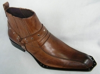Zota Mens Brown Unique Pointy Toe Leather Boots G4H937 Size 11 Final Sale