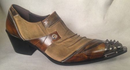 Zota Metal Toe Rust Cuban Heel Leather Fashion Shoes G868-1 - click to enlarge
