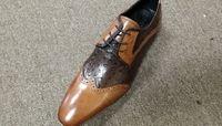 Zota Mens Two Tone Wingtip Style Tan Brown Leather Shoes HX20159-02