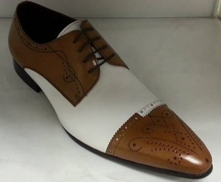 Zota Shoes Tan White Pointy Cap Toe HX705-302 (IS)
