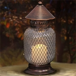 "10"" LED Classic Candle Lantern - Battery Powered w/Timer"