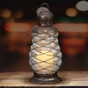 "10"" LED Spiral Candle Lantern - Battery Powered w/Timer"