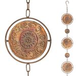 "100"" Medallion Spinner Rain Chains (Set of 2)"