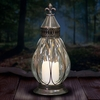 "11"" LED Teardrop Candle Lantern - Battery Powered w/Timer"
