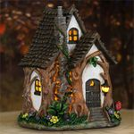 "11"" Solar Whimsy Tree House"